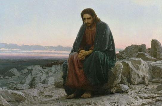 """Ivan Nikolaevich Kramskoy (1837, Ostrogoshsk -1887, St. Petersburg), """"Cristo nel deserto"""", Olio su tela, The Tretyakov Gallery, Mosca"""