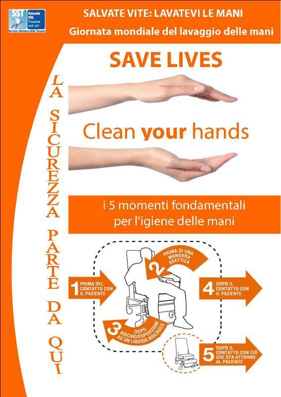 save lives celan your hands