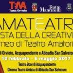 Abbadia San Salvatore. Tutto pronto per la V^ edizione di Amateatro.