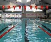 Castiglione d'Orcia. Campi estivi alla piscina di Abbadia S. Salvatore