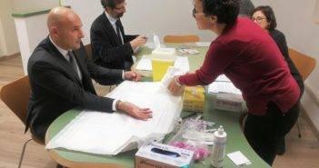 Siena_World_AIDS_Day_test Rettore Frati e prof. De Luca