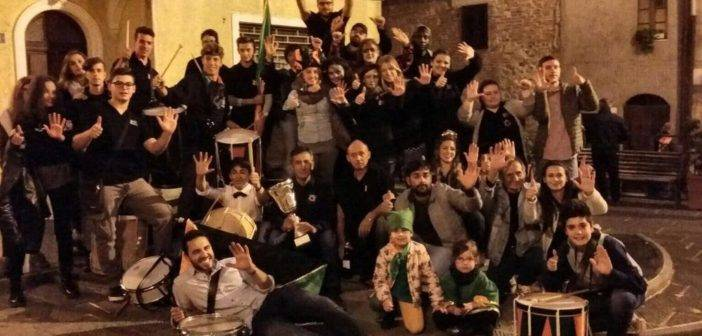 Cinigiano. La Contrada della Pescina festeggia la vittoria alla Festa dell'Uva